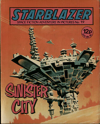 Sinister City,starblazer Space Fiction Adventure In Pictures,comic,no.19, 1980