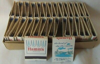 Full Hamm's Beer Box of Crown Logo Matches 1960's NOS