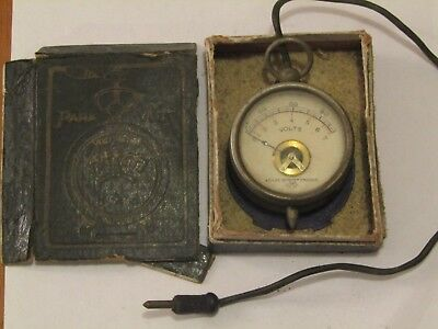 Scientific Antique Miniature Volt Meter (French)