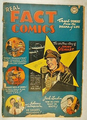 Real Fact Comics #4 (Sep-Oct 1946, DC) Story of Jimmy Stewart