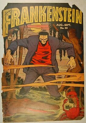 """Frankenstein #20 (Aug-Sep 1952, Feature Publications) """"Tomb of the Living Dead"""""""