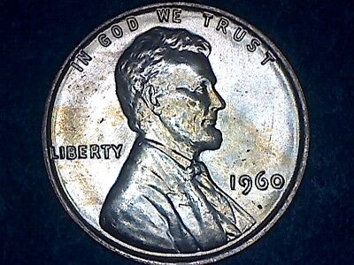 1960 Small Date BU - RED Lincoln Cent