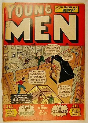 """Young Men #5 (Sept 1950, Interstate Publishing) """"My Brother is a Spy!"""""""