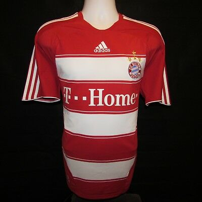 2007-2009 BAYERN MUNICH FOOTBALL SHIRT, Home, Adidas, Fussball Trikot, Large