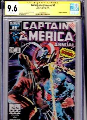 Captain America Annual #8 CGC SS 9.6 Signed by Stan Lee Key Rare Wolverine