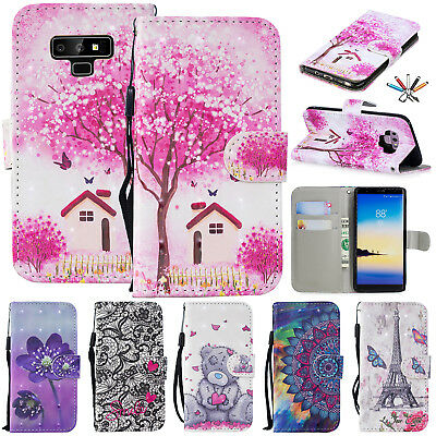 For Samsung Galaxy J4 J6 Plus 2018 Leather Stand Case Flip Book Phone Cover Case