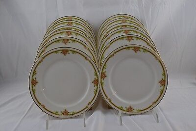 Theodore Haviland 625a Limoges France Double Gold Rose Bread Butter Plates x12