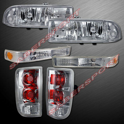 Set of Headlights w/ Park Signal + Taillights for 1998-2004 Blazer w/o Fog Light