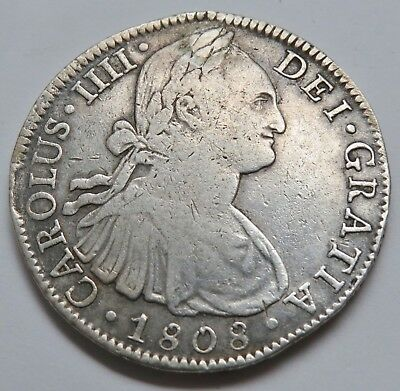 8 REALES 1808 TH MEXIKO , SILBER .903 , 40 mm , = 26.90 g