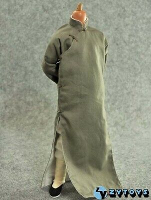 ZY Toys Chinese-style Costume Kung fu Long Robe Set Brown Color 1/6