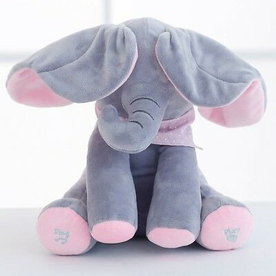 Peek-A-Boo Elephant Baby Plush Toy Animated