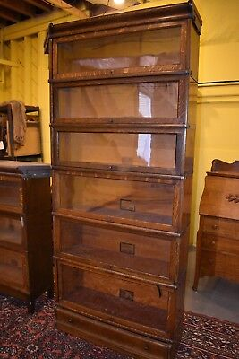 Mission Oak Globe Wernicke 6 Section Barrister Lawyer's Bookcase Arts & Crafts