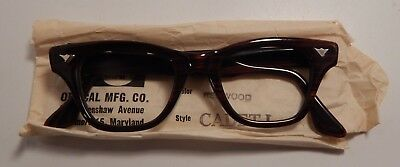 Vintage Zyl Craft Cadet 1 Redwood 42/20 Eyeglass Frame New Old Stock