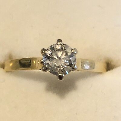18K Gold 0.5CT Diamond Solitaire Ring with Valuation