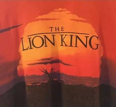Disney The Lion King T Shirt Sunset Two-sided Textured SZ Large EUC RARE HTF VTG