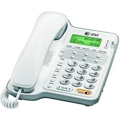 AT&T Corded Home Phone with Speakerphone and Caller ID/Call Waiting, White