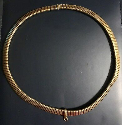 1940s Vintage 14k Gold Necklace With Attached Swivel Ring