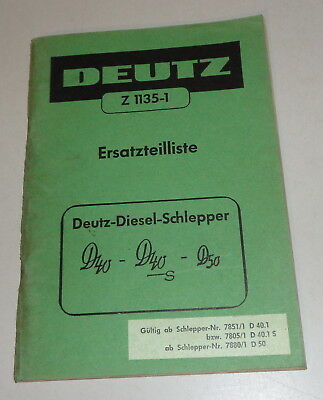 Motors 1964 Parts Catalog/spare Parts List Köla Selbstladewagen Ea 30
