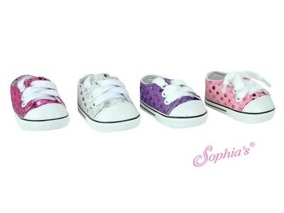 18 Inch Doll Sequin Sneakers - Shoes for American Girl Dolls