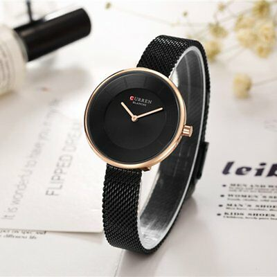 Fashion Women Ladies Milanese Mesh Loop Band Analog Quartz Wrist Watch Bracelet