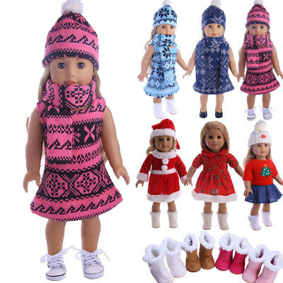 Handmade Doll Clothes Dress Pajama Shoes  Accessory For 18in