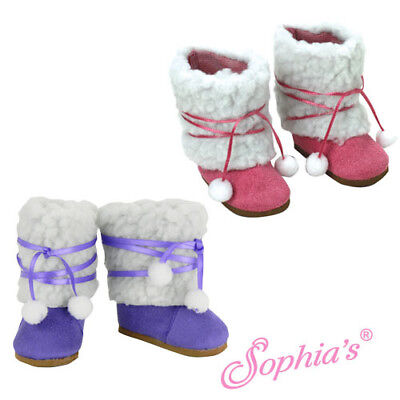 18 Inch Doll Suede Ewe Boots - Fits American Girl - AG Doll