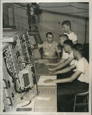 1961 Press Photo Civil Air Patrol Cadets at Missile Training Department