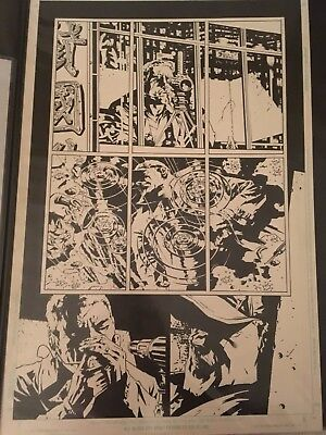 Batman/Deathblow Original Comic Art Page Lee Bermejo Tim Bradstreet