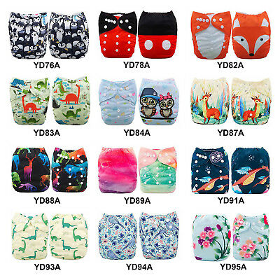 ALVABABY Pocket Cloth Diapers Reusable Washable Adjustable One Size Nappies