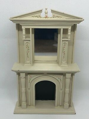 Dollhouse Miniature Large Victorian Fireplace with Mirror