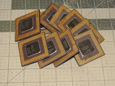 Lot Of 10 Intel Ceramic Cpu Chips For Scrap Gold Recovery Or Collection