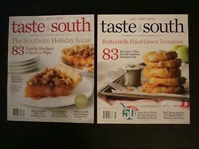Lot of 2 Taste of the South Magazine - New