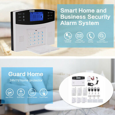 Wireless LCD GSM SMS Home Security Burglar Home Alarm System Auto Dialer 433MHZ
