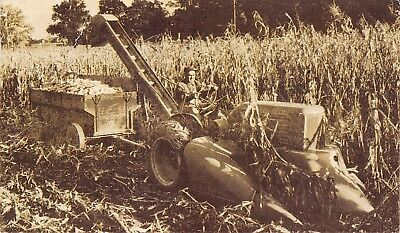 Milwaukee WI~Allis-Chalmers Two Row Mounted Corn Harvester WC Farm Tractor~1947