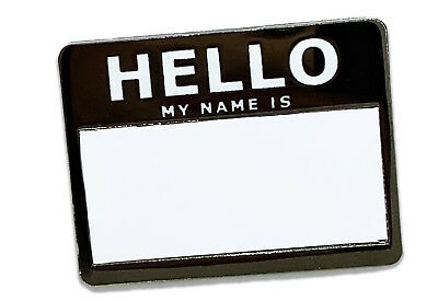 Hello My Name is Pin ( With Dry Erase ), Pinbacks, Enamel pins, hi my name is