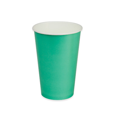 50x Paper Cold Drink Cup 16oz / 475mL Aqua Green Milkshake Slushie Juice Cups