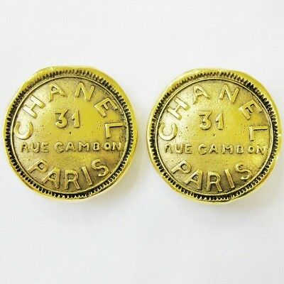 CHANEL Earring Cambod 31 gold brand accessory Ladies Free Shipping [used]