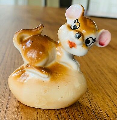 Vintage Mouse Antique Figurine Made In Japan