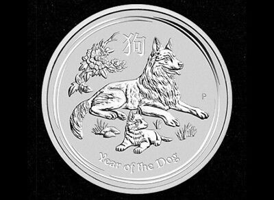 1oz Silver Coin 2018 Year of the Dog - Perth Mint