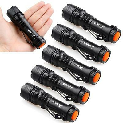 Mini 6X CREE Q5 7W 1200Lm LED Flashlight Torch Lamp Adjustable Focus Zoom Light