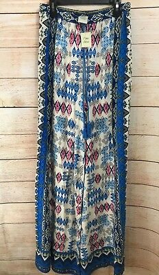 70bfcfe50f0 Flying Tomato Striped PALAZZO Pants Print Medium Blue Thin Comfy Festival  NWT