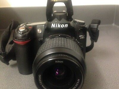 Nikon D80 DSLR Camera with lens good condition with extras