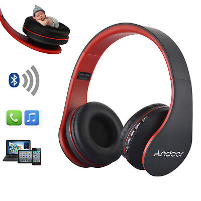 Wireless Bluetooth Stereo Headset Foldable Headphone W/Mic For iPhone USA