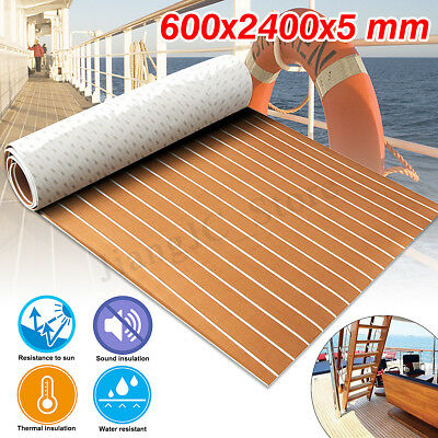 5mm EVA Foam Marine Boat Flooring Teak Decking Carpet Yacht Floor Mat 95''X24''