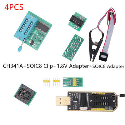 New LCD Flash SOIC8 Adapter CH341A SOIC8 Clip EEPROM BIOS Writer USB Programmer