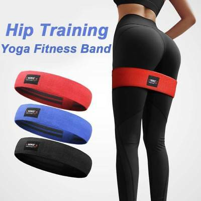Hip Resistance Circle Band Squat Glute Booty Yoga Pilates Thighs Strap Fitness