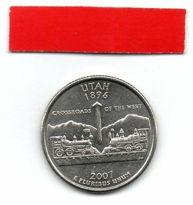 UNITED STATES Quarter UTAH 2007 25c cents State USA US coin P