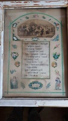 Picture Victorian Valentine 1872 framed with provenance