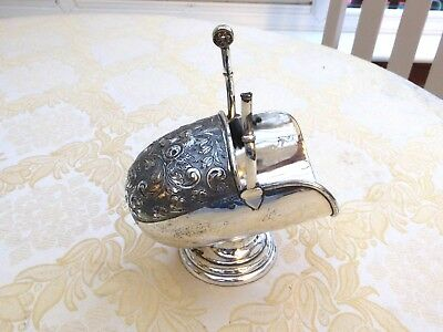 Large Art Deco Silver Plated Floral Patterned Sugar Scuttle & Scoop  1400759/763