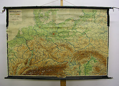Schulwandkarte Beautiful Old Germany 1946 Reichsautobahn 124x84cm Vintage Map